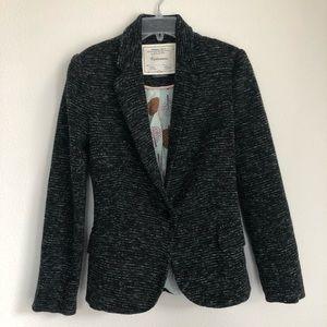 Cartonnier Anthropologie Knit Blazer Lined Gray S